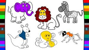 Animal Coloring Pages Drawing And Coloring Pages For Kids Youtube
