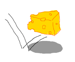 swiss cheese slice drawing.  Slice Partially Eaten Swiss Cheese Slice Bounces Throughout Swiss Cheese Slice Drawing