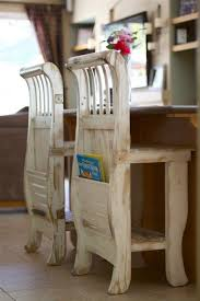 furniture repurpose. looking for a way to repurpose an old crib why not build one of these kitchen countertop stools do you have other ideas on how furniture