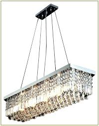 raindrop crystal chandelier rectangular lighting contemporary with shade modern r
