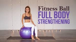 Free Exercise Ball Chart How To Use An Exercise Ball For Full Body Strengthening Full Class