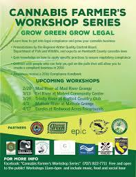 Cannabis Farmers Workshop Series