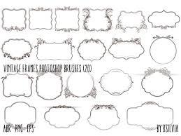 vintage frame design png. Photoshop Brushes Pack Vintage Frames, Frames Transparent PNG Files, Vector Files ( Frame Design Png
