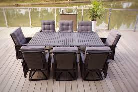 wicker outdoor dining set. 9pc Palmetto Aluminum \u0026 Wicker Outdoor Patio Dining Set With Cushions (Black/Grey)