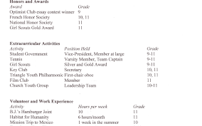 Stunning Sample Resume For College Application Contemporary