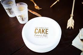 plastic dessert plates wedding. personalized plates, plastic cake wedding favors, custom dessert shower anniversary plates weddbook