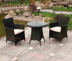 black wicker outdoor chairs