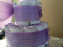 Lavender Baby Shower Decorations Baby Dreams 2 Tier Purple Butterfly Diaper Cake Online Store