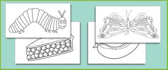 The Very Hungry Caterpillar Colouring Sheets Free Early Years