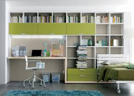 How To Decorate One Bedroom Apartment Cool Modern Home Office In One Bedroom Apartment Design With Green Color