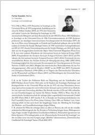 Seite 227 In Biografien Bedeutender Osterreichischer Wissenschafterinnen Die Neugier Treibt Mich Fragen Zu Stellen Web Books Im Austria Forum