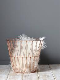 Papierkorb Metall Interieur Deko Rose Gold Roségold Deko