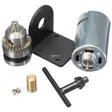 mini hand drill diy lathe press 555 motor w 1 8 chuck mounting