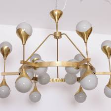 lighting chandeliers and pendants very large murano glass and brass chandelier attributed to stilnovo