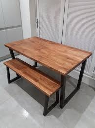 industrial look dining tables. reclaimed timer industrial style dining table and bench look tables d