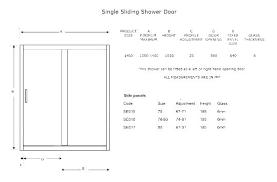 standard glass shower door height shower door width standard shower door height minimum shower door width
