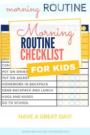 After School Routine Chart Printable And Editable