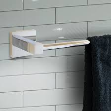 modern bathroom accessories. ECOSPA Modern Bathroom Toilet Roll Holder \u0026 Single Towel Rail Accessory Chrome Accessories