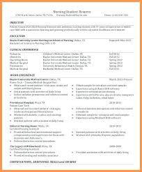 Nursing School Resume Template Resume Templates For Nursing