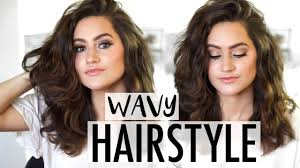 How To Easy Wavy Hairstyle Tutorial Medium Length To Long Youtube