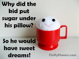 cute clean kids joke for children featuring a handmade cup of sugar