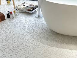 pure white pebble porcelain mosaic glazed ceramic mosaic for bathroom 3tn151
