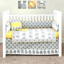 yellow baby bedding grey and white designer elephant 5 piece crib set nursery