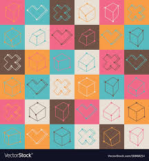 Checker Pattern Fascinating Checker Pattern With Geometric Shapes Royalty Free Vector
