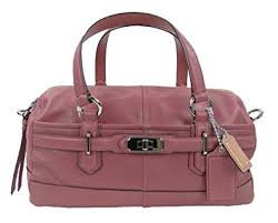 Authentic Coach Leather Reese Convertible Duffle Satchel Bag 17803 Ginger  Beet Pink