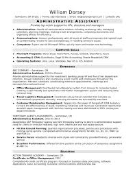 Template Office Assistant Resume Examples Administration Example