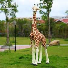 simulation big giraffe ornaments garden outdoor sculpture courtyard kindergarten crafts