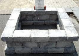 Block Fire Pit Kit Concrete Block And Brick Products