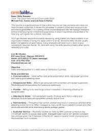 Resume Skill Examples Resumes Basic Skills Mado Sahkotupakka Co
