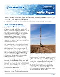 Real-Time Surrogate Monitoring of Groundwater Pollutants at Oil and Gas  Production Sites