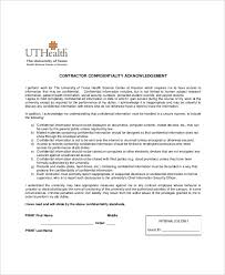 Client Confidentiality Agreement 9 Free Word Excel ~ Contractor ...