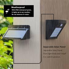 Us 133 30 Offled Outdoor Wall Light Motion Sensor Solar Led Lamp Verlichting Buiten Waterproof Wall Lamp Night Lighting Lampara Exterior In Led