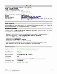 J2ee Professional Resume 24 Fresh Networking Fresher Resume Format Simple Resume Format 22