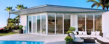 impact resistant sliding glass doors on ocean front home