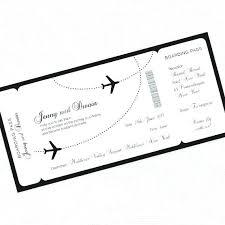 wedding invitation ticket template plane ticket wedding invitation template free air card flight
