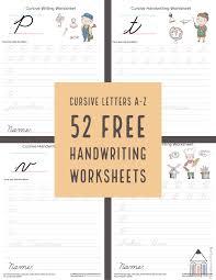 Cursive Letters A Z Cursive Handwriting Practice