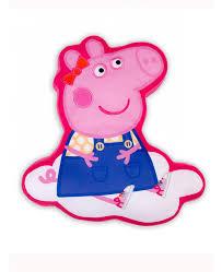 peppa pig pink heart shaped shape childrens rug genuine peppa pig