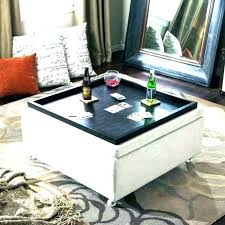 extra large ottoman square coffee table leather storage round gold tray l