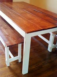 Home Made Kitchen Table Diy Bench Style Kitchen Table Cliff Kitchen