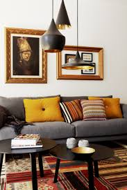 pendant lighting for living room. Cluster Of Black Pendant Lights Over Two, Round, Coffee Tables Living Room Decor Lighting For N
