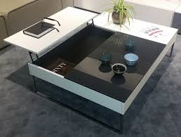chiva functional coffee table with storage in white lacquer matte residence regarding 13