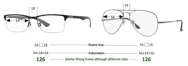 Specs Frame Size Chart How To Choose The Right Glasses Size