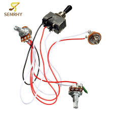 popular guitar toggle switch wiring buy cheap guitar toggle switch electric guitar wiring harness kit 3 way toggle switch 1 volume 1 tone 500k pot electric