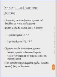 solving exponential and logarithmic equations worksheet new e xponents and l ogarithms ap calculus ab summer
