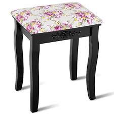 padded vanity stool. Fine Vanity Giantex Vanity Stool Wood Dressing Padded Chair Makeup Piano Seat Make Up  Bench WRose To W