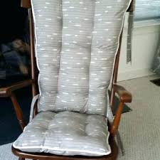 wood rocking chair pads custom organic abacus cushions glider replacement rocker wooden gray and yellow ab grey chair pads